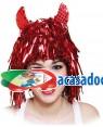 Peruca Demônio Coloridas com Chifres (2 Unidades), Loja de Fatos Carnaval, Disfarces, Artigos para Festas Acessórios de Carnaval Mascaras 498 acasadocarnaval.pt