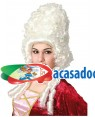 Peruca Duquesa da Época, Loja de Fatos Carnaval, Disfarces, Artigos para Festas, Acessórios de Carnaval, Mascaras, Perucas, Chapeus 687 acasadocarnaval.pt