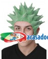 Peruca Látex Goku Verde, Loja de Fatos Carnaval, Disfarces, Artigos para Festas, Acessórios de Carnaval, Mascaras, Perucas, Chapeus 784 acasadocarnaval.pt
