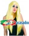 Peruca Longa Amarela, Loja de Fatos Carnaval, Disfarces, Artigos para Festas, Acessórios de Carnaval, Mascaras, Perucas, Chapeus 787 acasadocarnaval.pt