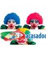 Peruca Palhaço Rosa, Loja de Fatos Carnaval, Disfarces, Artigos para Festas, Acessórios de Carnaval, Mascaras, Perucas, Chapeus 438 acasadocarnaval.pt