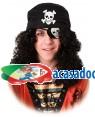 Peruca Pirata com Pala e Lenço, Loja de Fatos Carnaval, Disfarces, Artigos para Festas, Acessórios de Carnaval, Mascaras, Perucas 846 acasadocarnaval.pt