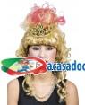 Peruca Princesa com Coroa, Loja de Fatos Carnaval, Disfarces, Artigos para Festas, Acessórios de Carnaval, Mascaras, Perucas, Chapeus 657 acasadocarnaval.pt