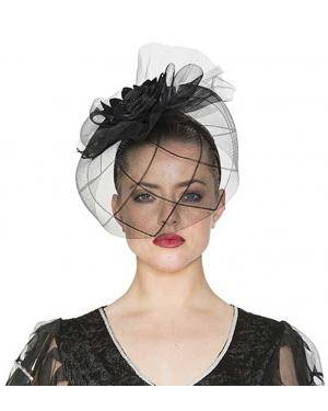 Chapéu viúva com bandolete 18x28x26cm. Acessórios para disfarces de Carnaval ou Halloween