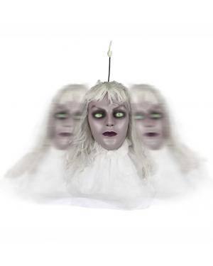 Cabeça giratória com luz e som Acessórios para disfarces de Carnaval ou Halloween
