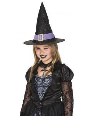 Chapéu bruxa infantil Acessórios para disfarces de Carnaval ou Halloween