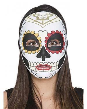 Máscara Catrina Acessórios para disfarces de Carnaval ou Halloween