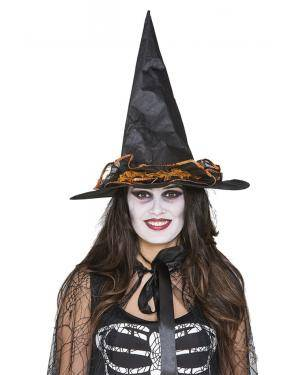 Chapéu bruxa adornos laranja Acessórios para disfarces de Carnaval ou Halloween