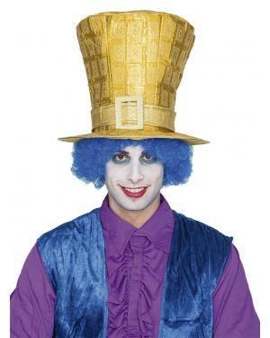 Chapéu duende dourado Acessórios para disfarces de Carnaval ou Halloween