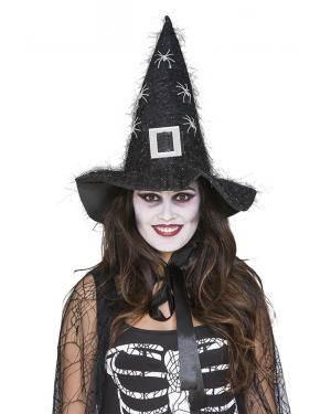 Chapéu bruxa com aranhas  Acessórios para disfarces de Carnaval ou Halloween
