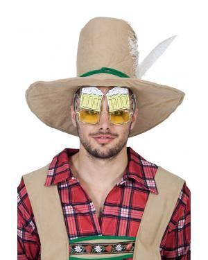 Óculos caneca de cerveja Acessórios para disfarces de Carnaval ou Halloween