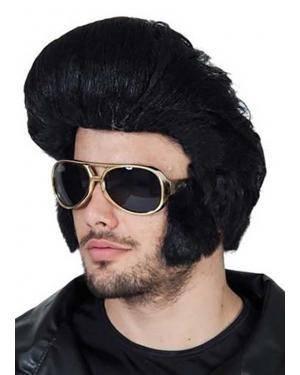 Óculos rock com patilhas Acessórios para disfarces de Carnaval ou Halloween