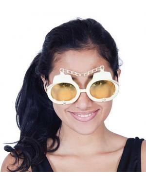 Óculos algemas dourados Acessórios para disfarces de Carnaval ou Halloween