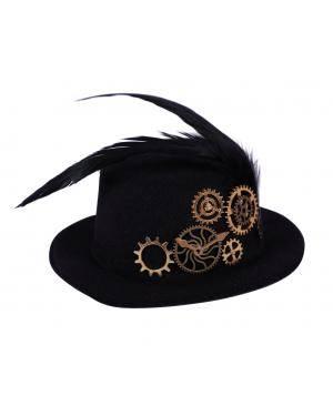 Chapéu steampunk mini Acessórios para disfarces de Carnaval ou Halloween