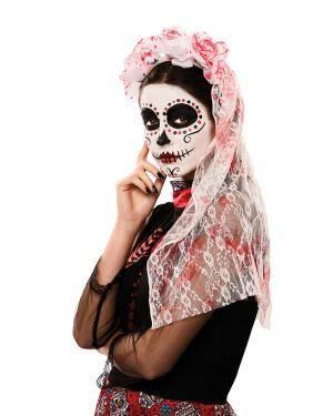 Adereço da cabeça e véu sangrento Acessórios para disfarces de Carnaval ou Halloween