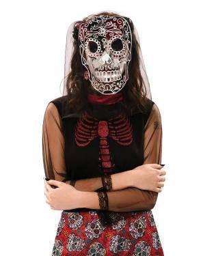 Véu dia dos mortos Acessórios para disfarces de Carnaval ou Halloween