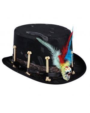Chapéu dia dos mortos Acessórios para disfarces de Carnaval ou Halloween