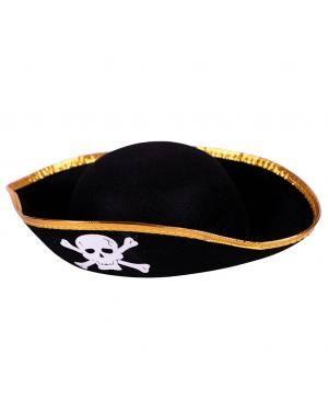 Chapéu pirata infantil Acessórios para disfarces de Carnaval ou Halloween