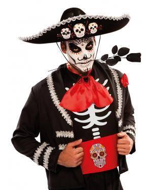 Chapéu mexicano dia dos mortos Acessórios para disfarces de Carnaval ou Halloween