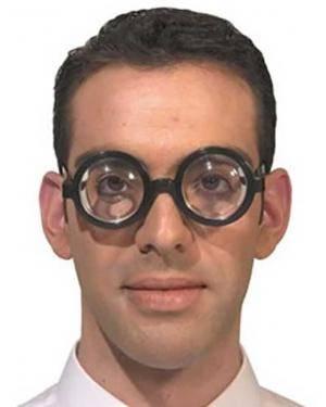 Óculos miope Acessórios para disfarces de Carnaval ou Halloween