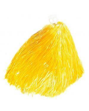 2 Pompons 55 gr. anéis amarelos Acessórios para disfarces de Carnaval ou Halloween