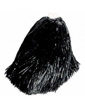 2 Pompons 55 gr. anéis preto Acessórios para disfarces de Carnaval ou Halloween
