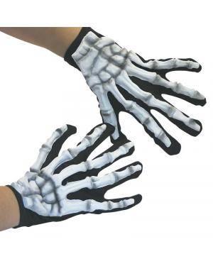 Mãos esqueleto latex G.I.D. 24cm.  Acessórios para disfarces de Carnaval ou Halloween