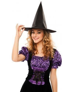 Chapéu bruxa tecido (não inflamável) Acessórios para disfarces de Carnaval ou Halloween