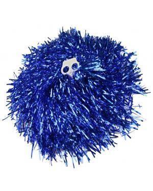 2 Pompons metalizado azul Acessórios para disfarces de Carnaval ou Halloween