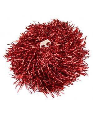 2 Pompons metalizado vermelho Acessórios para disfarces de Carnaval ou Halloween