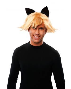Peruca gato em caixa Acessórios para disfarces de Carnaval ou Halloween