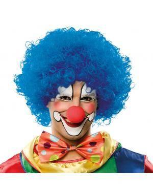 Peruca clow azul Acessórios para disfarces de Carnaval ou Halloween