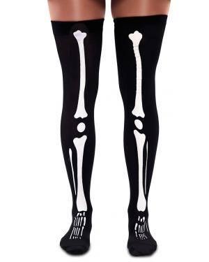 Meias esqueleto Acessórios para disfarces de Carnaval ou Halloween
