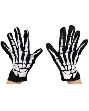 Luvas esqueleto adulto Acessórios para disfarces de Carnaval ou Halloween