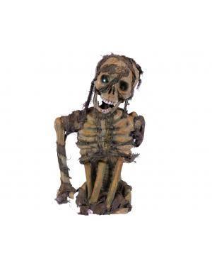 Busto esqueleto verde com luz led Acessórios para disfarces de Carnaval ou Halloween
