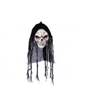 Caveira pendurada 21x15x16cm. Acessórios para disfarces de Carnaval ou Halloween