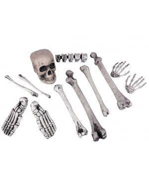 Crânio e 11 ossos Acessórios para disfarces de Carnaval ou Halloween