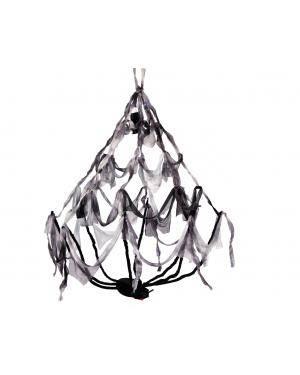 Lâmpada aranha com luz púrpura 50x80cm. Acessórios para disfarces de Carnaval ou Halloween