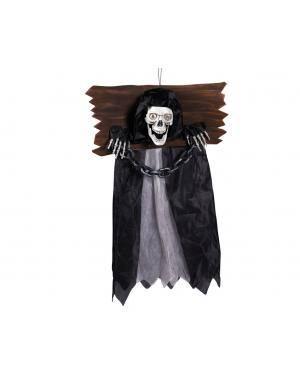 Caveira fantasma luz, som e movimento Acessórios para disfarces de Carnaval ou Halloween