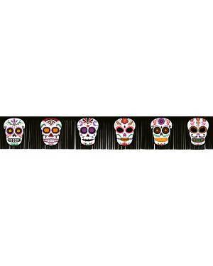 Grinalda franjas dia dos mortos 20x182cm. Acessórios para disfarces de Carnaval ou Halloween