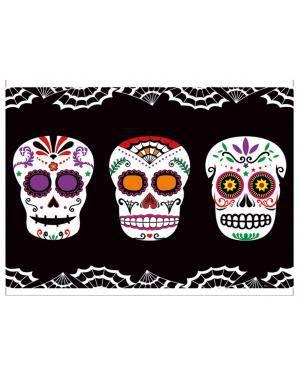 Toalha dia dos mortos 137x182cm. Acessórios para disfarces de Carnaval ou Halloween