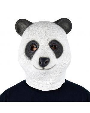 Máscara panda látex Acessórios para disfarces de Carnaval ou Halloween