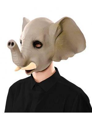 Máscara elefante látex Acessórios para disfarces de Carnaval ou Halloween