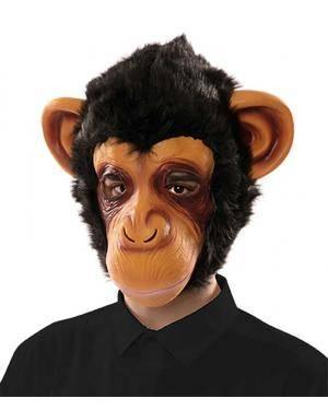 Máscara chimpanzé látex Acessórios para disfarces de Carnaval ou Halloween