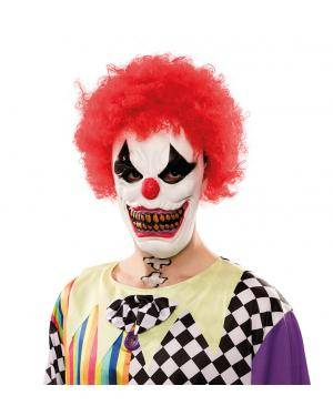 Máscara palhaço diabólico 19x27,5cm. Acessórios para disfarces de Carnaval ou Halloween