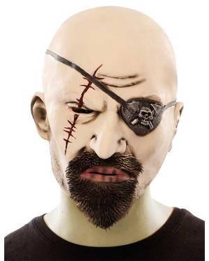 Máscara pirata látex Acessórios para disfarces de Carnaval ou Halloween