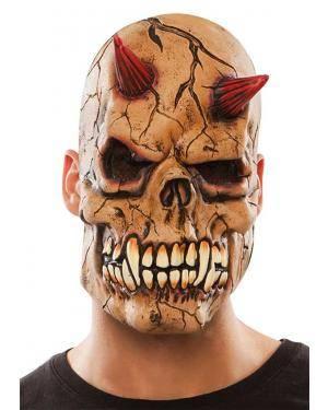 Máscara demónio látex Acessórios para disfarces de Carnaval ou Halloween