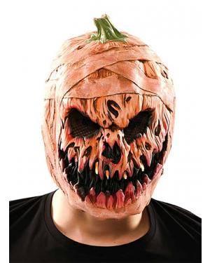 Máscara abóbora diabólica látex Acessórios para disfarces de Carnaval ou Halloween