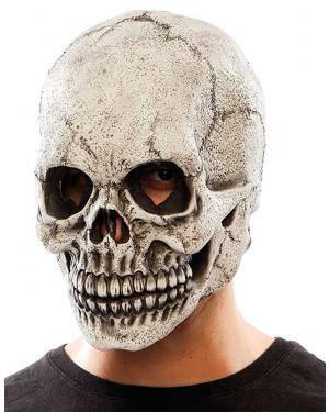 Máscara caveira látex com luz Acessórios para disfarces de Carnaval ou Halloween