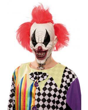 Máscara palhaço diabólico látex Acessórios para disfarces de Carnaval ou Halloween